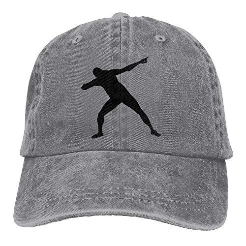 MEILIJISHI Gorra de béisbol para Hombres y Mujeres Huagestroe Usain Bolt Silhoutte 1c Rear Sombrero...