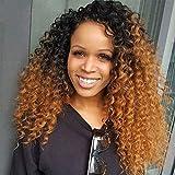 Best Hair Weave Blonde 3 Bundles - Ombre Brazilian Hair Deep Wave 2 Tone Curly Review