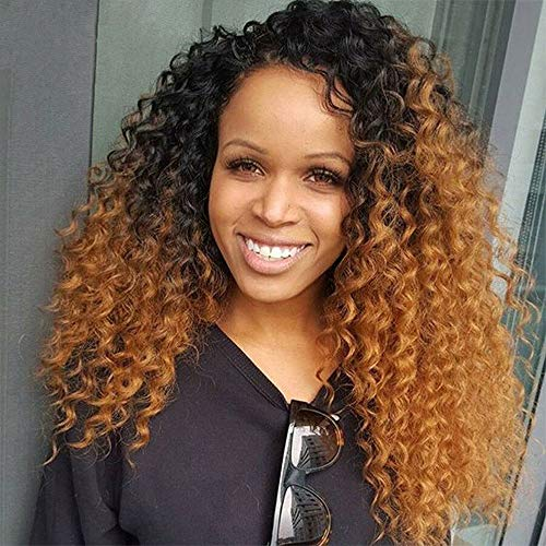 2 Tone Ombre Brazilian Hair Deep Wave Curly Virgin Hair Weave 14 16  18inches Ombre Human Hair Extensions 3 Bundles Dark Roots Black To Auburn  Ombre Curly Hair Bundles T1B/30 | WantItAll