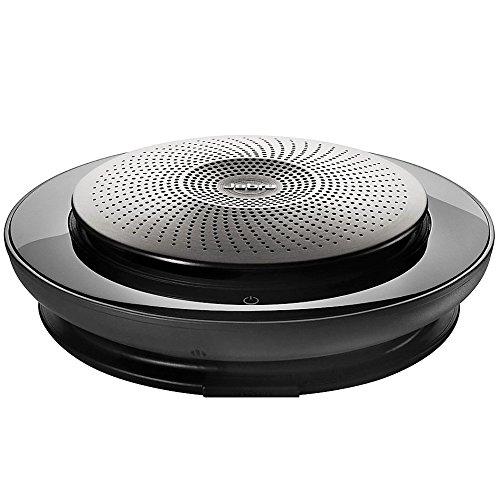 Jabra Speak 710 UC Premium-Freisprechlösung mit USB/Bluetooth, spontane Telefonkonferenzen und Musik hören, für Unified Communications optimiert, schwarz/silber, inkl. Link 370