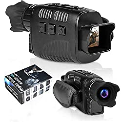 """CANIS LATRANS Digital Night Vision Monoculars IR Night Vision Goggles Infrared Digital Camera with 1.5"""" TFT LCD,3W, 850nm IR LEDs for Outdoor/Surveillance/Bird Watching"""