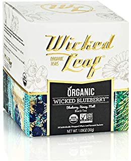 Sponsored Ad - Wicked Leaf Organic Tea, Wicked Blueberry, 12 Tea Sachets