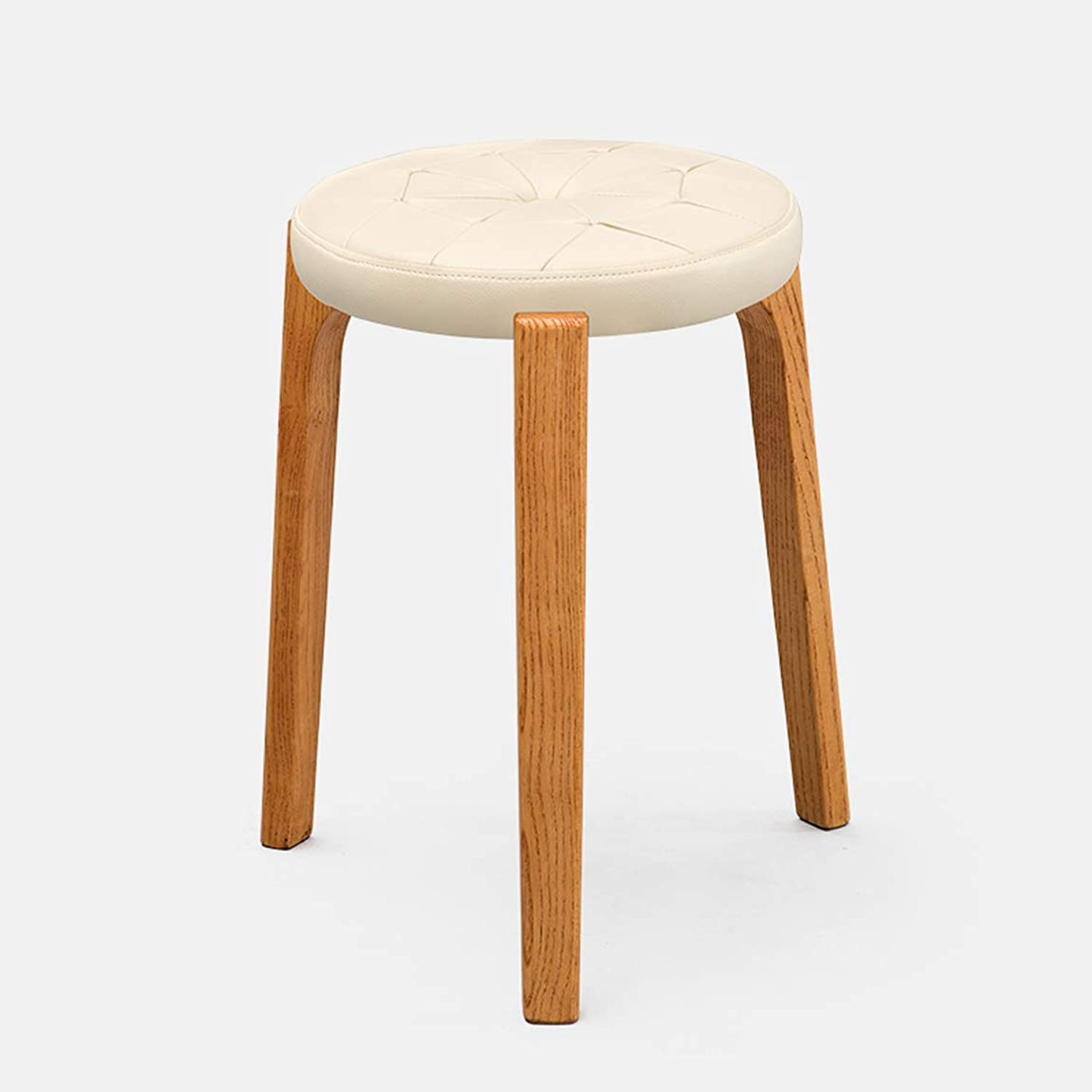 Creative Small Stool Solid Wooden Dining Stool Square Stool Dressing Stool Simple Fashionable Dressing Stool Bench Household Stool 11 Carl Artbay Strong and Practical