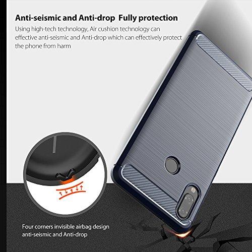 Elekin Hülle Kompatibel für Huawei P20 Lite, Handyhülle Kompatibel für P20 Lite Case Cover - Blau - 4