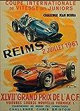 Reims 1961 Auto-Poster Reproduktion/Format 50 x 70 cm
