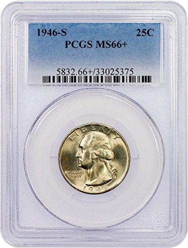 1946 S Washington Quarter Quarter MS-66+ PCGS