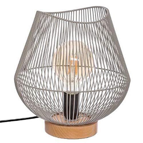 Paris Prix Atmosphera Créateur d'intérieur - Lampe à Poser Design en Métal JENA 28cm Gris