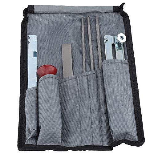 Kettingzaag slijper Kit - Inclusief ronde bestanden, plat bestand, diepte gaas, vijlgids, handvat, gereedschap zak voor slijpen & vijlen kettingzagen & andere messen 8 Stks/set