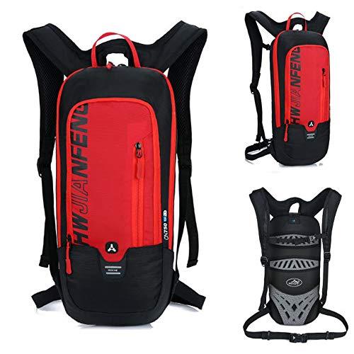 OUYA Bike-Rucksack 10L Wasserdicht Atmungs Radfahren Trinkrucksack Sport Rucksack, für Outdoor Trekking Reitaktivitäten,Rot
