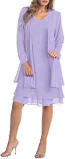 KENANCY Women's Plus-Size Chiffon Jacket Dress Mother of The Bride Dress Suit
