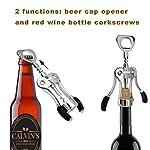 IPOW WJ-098 Red Wine Beer Bottle Opener Wing Corkscrew