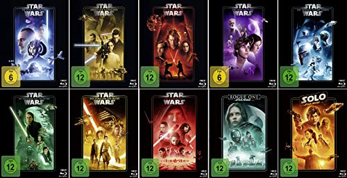 Star Wars 1 - 8 Paket + Rogue One: A Star Wars Story + Solo: A Star Wars Story [10er BluRay-Set]