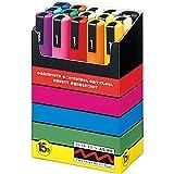 三菱鉛筆 水性ペン ポスカ 中字 丸芯 15色 PC5M15C