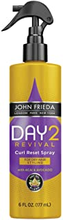John Frieda Day 2 Revival Curl Reset Spray, to Restore Curly Hair without Washing, 6 Ounces, with Acai and Avocado Dry Oil