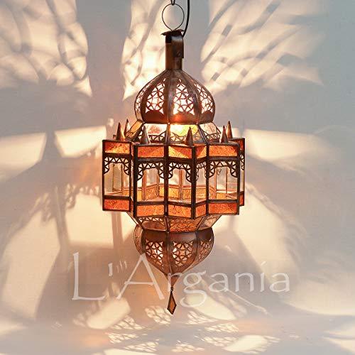 Lampada marocchina - Zagora Ambra - Lanterna - Dimensioni H57 x 25 cm