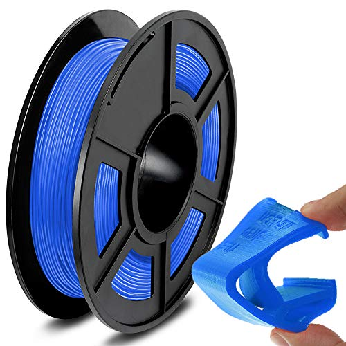 SUNLU TPU Flexible Filament 1.75mm for 3D Printer 500g/Spool Dimensional Accuracy +/-0.03mm, Blue