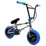 FatBoy Mini BMX Bicycle Freestyle Bike Fat Tires Chrome Assault Pro, Blue