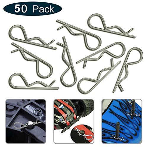 KCRTEK 100Pcs RC Body Clips,RC Clips for All 1//10 1//12 Scale Redcat HPI Himoto HSP Exceed RC Car Parts Truck Buggy Shell Replacement Silver