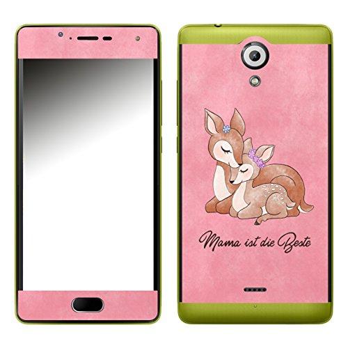 Disagu SF-107288_1002 Design Folie für Wiko Ufeel Lite - Motiv Mama ist die Beste - rosa