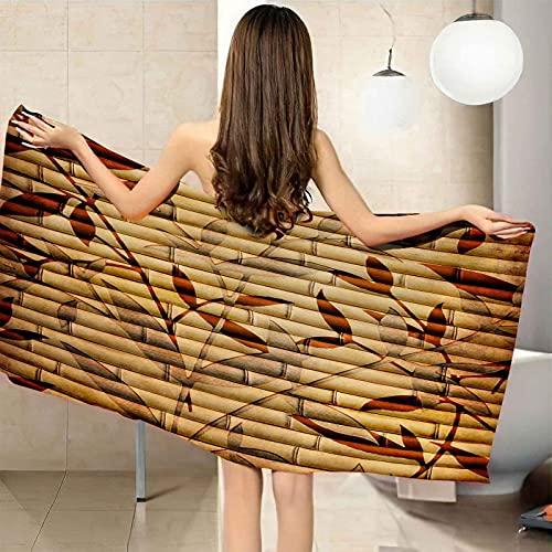 XTSEDL Toalla De Playa De Microfibra Árbol de bambú Rojo Toallas De Piscina De Secado Rápido 150x200cm Toalla De Baño De Viaje De Gran Tamaño Toalla Ligera para Acampar Adecuada