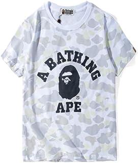 GoldBucket 1203-Unisex Bape White Camo Ape Teenage Adult Fashion T-Shirts