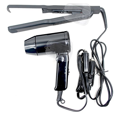 12 Volt In Car Streetwize Hair Dryer and Hair Straightener Package Motor...