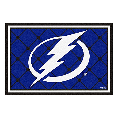 FANMATS NHL Tampa Bay Lightning Nylon Face 5X8 Plush Rug