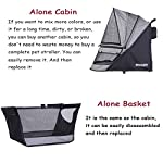 ROODO Escort Pet Stroller Dog and cat pet Three-Wheeled cart - Lightweight, Compact, Portable, Practical, Removable, Change Color (Black special edition) 14