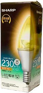 シャープ LED電球 ELM[エルム] シャンデリア電球タイプ クリアカバー 調光器対応 25W形相当 全光束:230lm 電球色相当 E17口金 DL-JC2DL