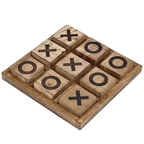 Holz dunkel 3D Tic Tac Toe Spiel Strategiespiel Logikspiel Handarbeit