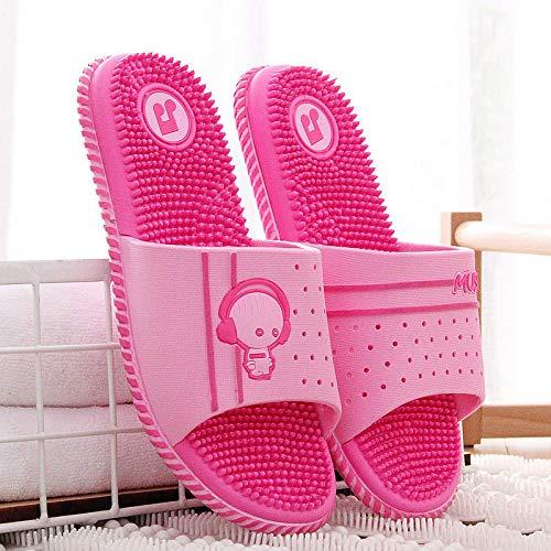 LNLJ Suave parte inferior de plástico masaje sandalias y zapatillas, casa masaje zapatillas antideslizantes de los hombres-Rosa43