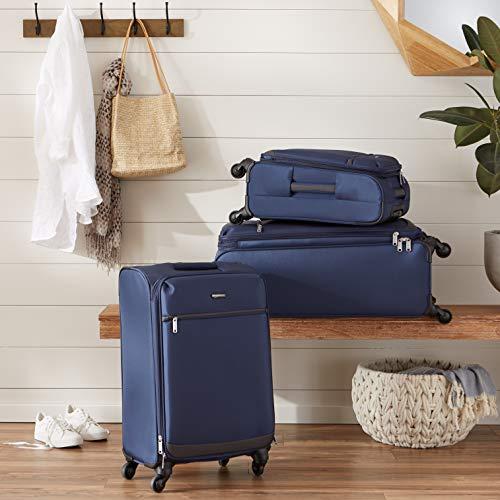 AmazonBasics 68 cm Navy Blue Softsided Check-In Trolley