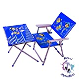 Avani MetroBuzz Kids Metal Table Chair Set || Red || 2 to 6 Year Old Kids || (Blue)