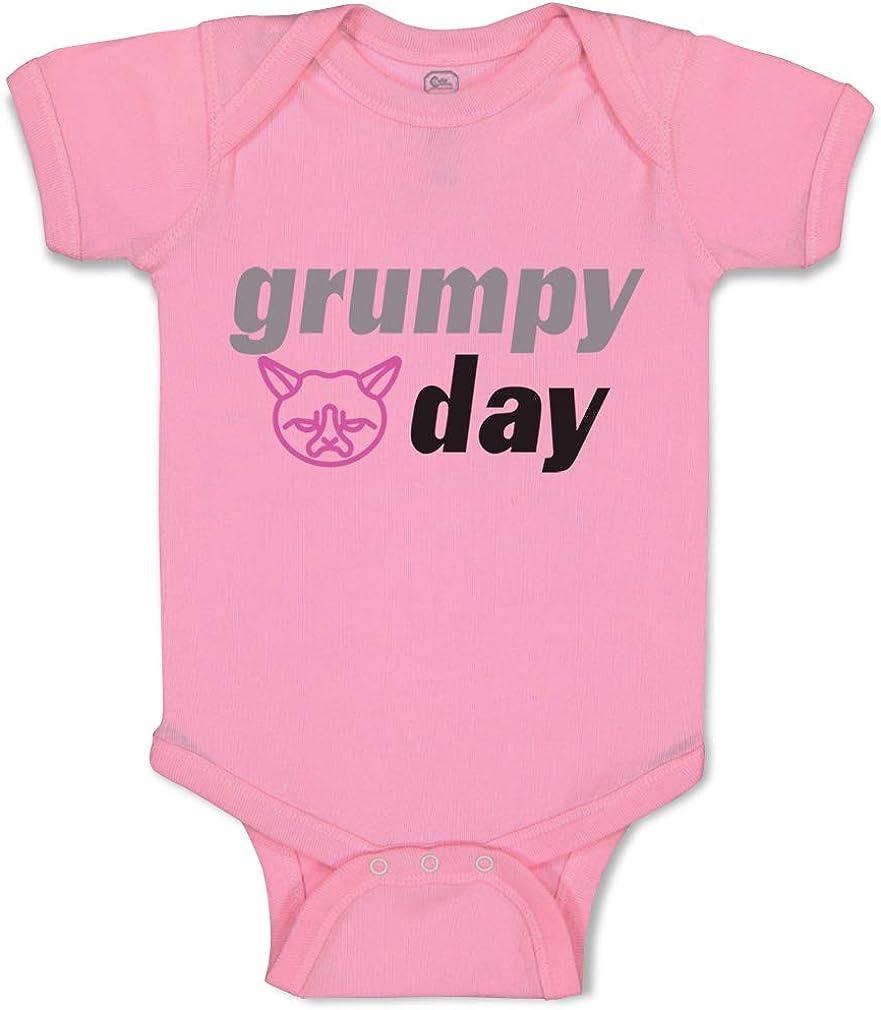 Custom Baby Bodysuit Grumpy Day Funny Humor Funny Cotton Boy /& Girl Baby Clothes
