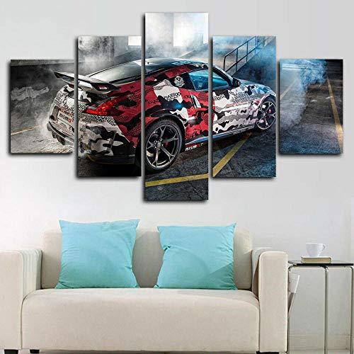 Bild auf Leinwand - Modern Nissan 370Z NISMO Tuning Auto - Modern - Leinwandbilder - Fünfteilig - Mehrteilig - zum Aufhängen Bereit - Bilder - Kunstdruck