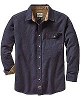 Legendary Whitetails Men's Buck Camp Flannel Shirt (Navy Heather, Medium)