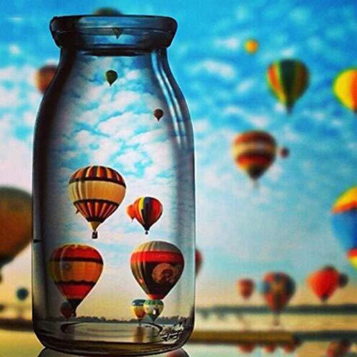 yangyue, 5d Diamantmalerei, DIY Diamantstickerei Kunsthandwerk Rhein Luftballons Glas Diamant Kunst Wandkunst Dekor 30x40cm