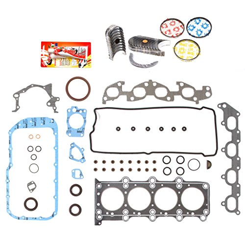 Domestic Gaskets Engine Rering Kit FSBRR8004EVE Compatible With 99-03 Suzuki Chervrolet 1.8 2.0 DOHC J18A J20A Full Gasket Set, Standard Size Main Rod Bearings, Standard Size Piston Rings