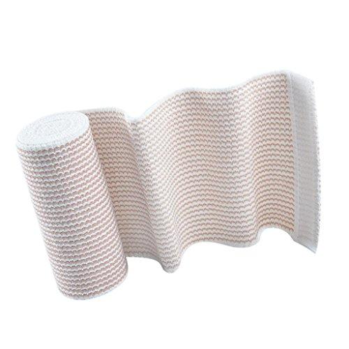 MagiDeal Elastische Bandage Sportverletzung Erste Hilfe multifunktionale Kompressions Bandagen mit Klettverschluss - 15 cm x 4,5 m