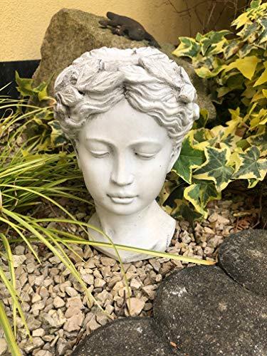 Radami Büste Statue Frau Gartenfigur Steinfigur Steinguss