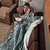 EIUE Sherpa Fleece Blanket Throw Size,Light Grey Fuzzy Warm Baby Kids Nap Blanket Quilt for Sofa, Bed, Office and Outdoor Travel.(40x60)