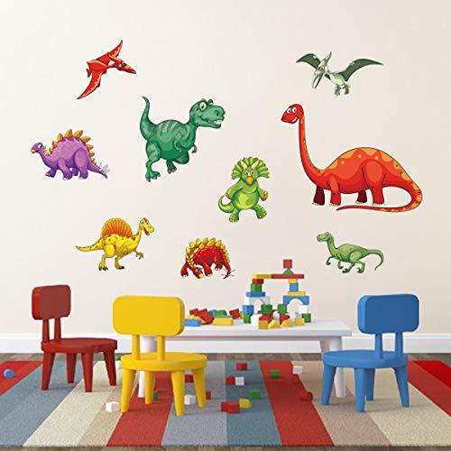 decalmile Wandtattoo Dinosaurier Wandsticker Tier Wandaufkleber Kinderzimmer Jungen Babyzimmer Wanddeko