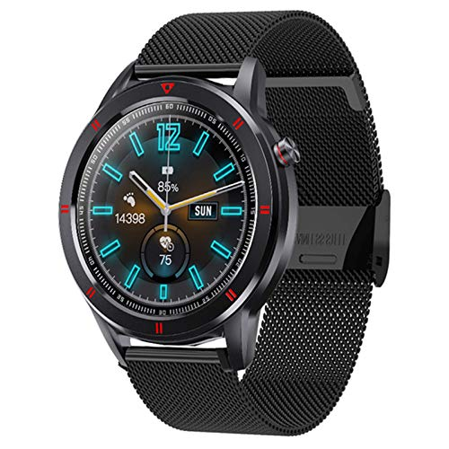 YWS Smart Watch Full Circular Touch Screen Fashion Youth1smartwatch Fitness Tracker Bracelet Sleep Sleep Rate Toate Monitor para Android iOS,C