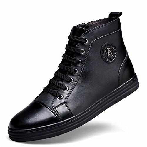 ailishabroy Zapatos Casuales con para Hombres Zapatos Oxford con Tapa en Cuero Altos