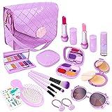 Meland Pretend Play Makeup for Girls - 20PCS Kids Fake-Makeup Toy & First Play Purse Set, Princess Birthday for Toddler...
