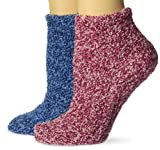 Dr. Scholl's Women's American Lifestyle Soothing Spa Low Cut 2 Pair Casual Sock, Pink/Blue, Shoe Size 4-10 US