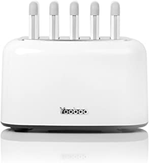 Yoobao Wireless Charging Station Power Bank Charge Dock Includes 5pcs of 10000mAh Built-in Cable Portable Charger Compatible iPhone Samsung Easy Charging at Home Office Pub Restaurant Library Upgraded