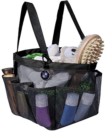 Attmu Mesh Shower Caddy for College Dorm Room Essentials, Hanging Portable Shower Tote Bag Toiletry for Bathroom Accessories