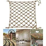 NIUFHW Balkon Fallschutznetz, Abgeschnitten Isolierung Dekorationsnetz Deckennetz, Terrasse Terrasse Sicherheit Leitplanke Klettern Seilnetz Kleidung Aufhängen Flechten (Size : 2 * 8M(7 * 26ft))