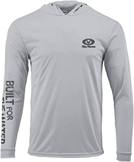 Flying Fisherman TL1415SS Built for Water Long Sleeve Performance Hoodie Silver, Small